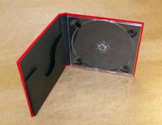 Диджибук CD формата для 1 диска с карманом под буклет. Черный трей для диска