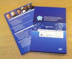 Дигифайл DVD 4 полосы на 4 диска + слипкейс. Загрузка в слипкейс - слева