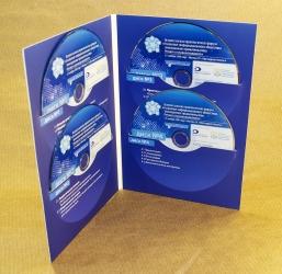 Digifile DVD 4 полосы на 4 диска. Крепление 2х дисков на полосу в прорези.