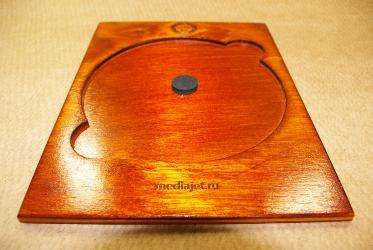 Деревянная упаковка для диска. Крепление для диска - спайдер