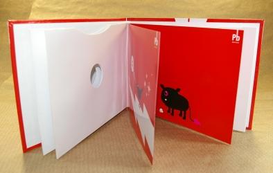 DVD дигибук альбомной ориентации, буклет в центре, карманы для дисков.