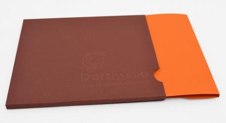 DBS - discbox slider - упаковка из двух видов дизайнерских бумаг.