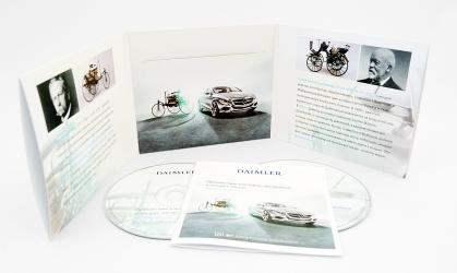 Диджислив CD формата для 2х дисков и буклета