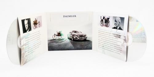 Дигислив CD формата для 2х дисков и буклета. Буклет в карман по-центру
