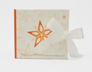 Хардбек CD для 2х дисков с завязками из атласных лент