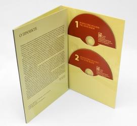 Digifile DVD формата, 6ти полосный для двух дисков. Первый разворот