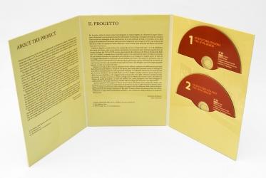 Дигифайл DVD формата, 6ти полосный для 2х дисков, вид в развороте