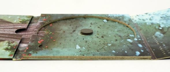 Картонный эко-трей для диска