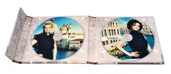 Хардбэк CD формата с клапаном на магните, для 2х дисков