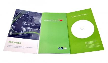 Диджипак А5 формата для диска и брошюры