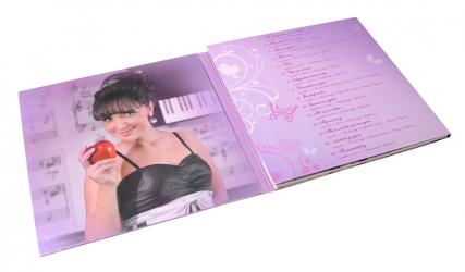 Диджипак CD 6 полос с картонным треем и карманом для буклета