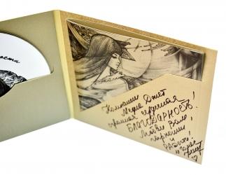 Дигифайл СD формата, 6 полос для диска и буклета