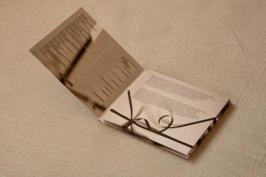 Digipak на 1 CD с карманом под постер, вид на разворот.