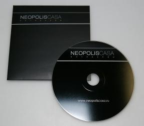 Конверт под CD на 1 диск, печать по диску шелкографией.