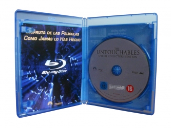 Blu-ray box для 1 диска, разворот.