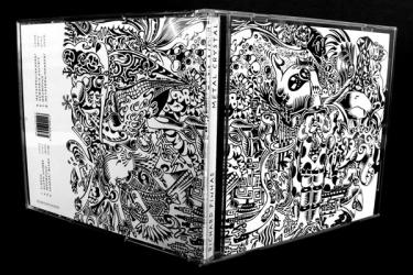 CD джевел бокс, вид на разворот.