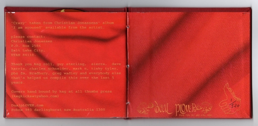 Диджибук CD на 1 диск, вид на разворот.