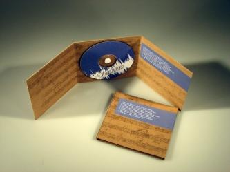 Диджипак СД на 1 диск, вид на разворот.