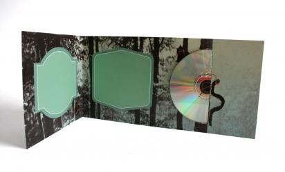 Digifile CD на 1 диск, вид на разворот и диск.