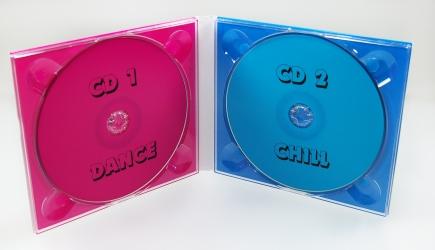 Диджипак CD 4 полосы на 2 диска, вид изнутри