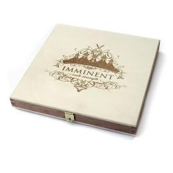 Деревянная шкатулка с резьбой, для 1 DVD диска
