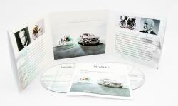 Дигислив CD формата для 2х дисков и буклета. Mercedes