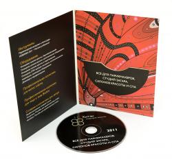 Дигифайл DVD 4х полосный для 1 диска. Хитек