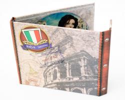 Хардбек CD формата для 2х дисков с клапаном на магните. Italy