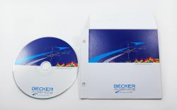 Конверт для CD с клапаном и отверстиями под скоросшиватель